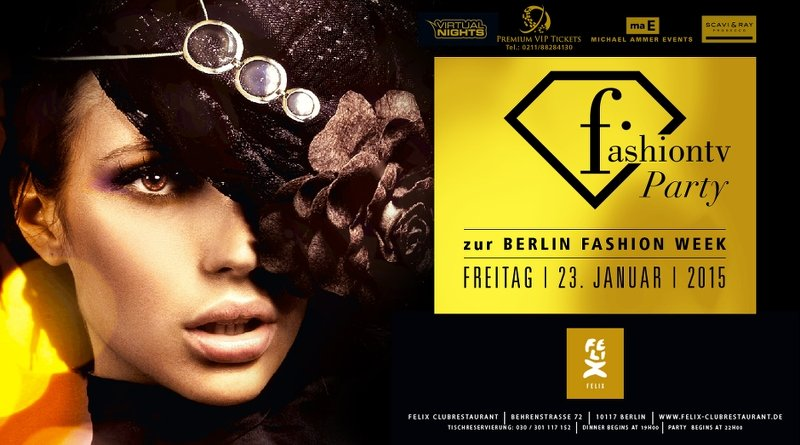 Flyer Fashion Week 23.01.2015 | Michael Ammer Events