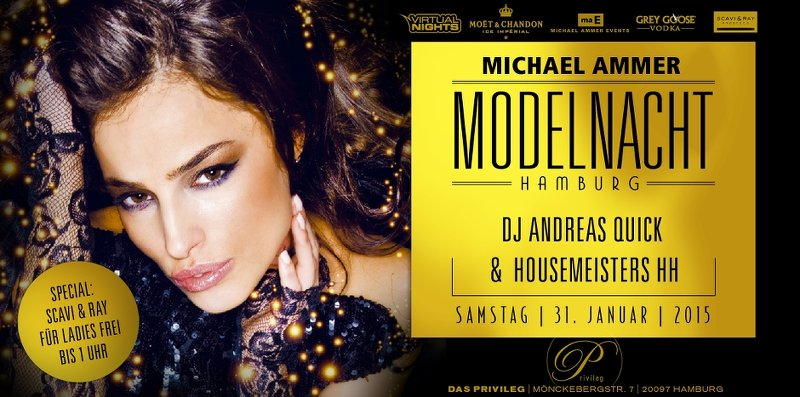 Flyer Modelnacht 31.01.2015 | Michael Ammer Events